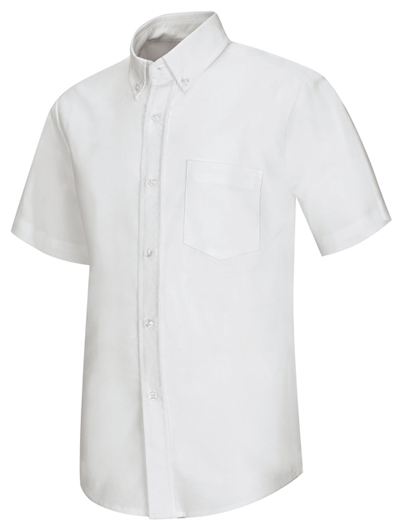 Classroom Men's Men's Short Sleeve Oxford Shirt White