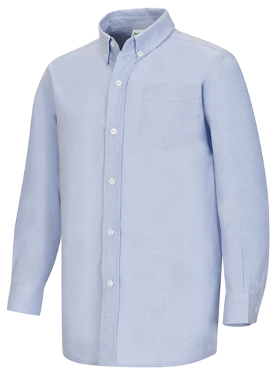 Classroom Uniforms Boys Long Sleeve Back Yoke Button Down Shirt 57651