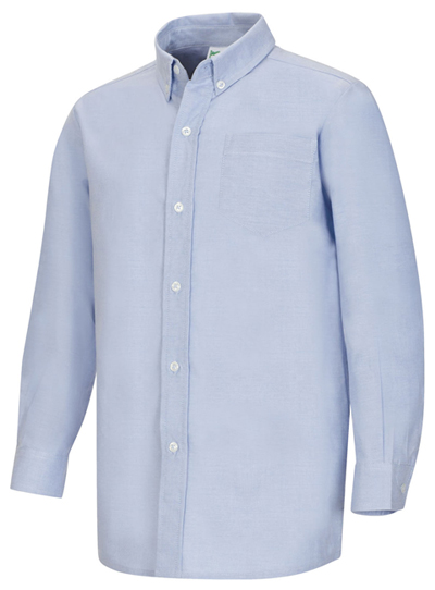 Classroom Uniforms Classroom Men's Men's Long Sleeve Oxford Shirt Blue