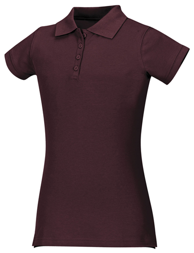 Classroom Girl's Girls Stretch Pique Polo Purple