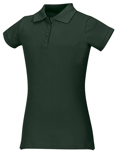 Classroom Uniforms Classroom Girl's Girls Stretch Pique Polo Green