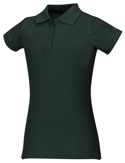 Classroom Junior's Junior Stretch Pique Polo Green