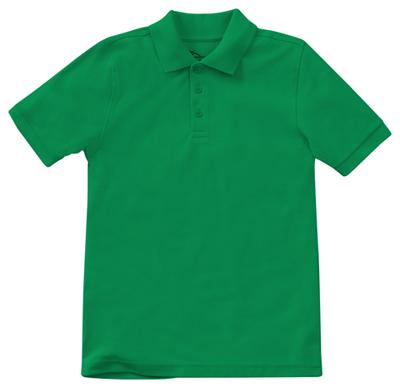 Classroom Child's Unisex Youth Unisex Short Sleeve Pique Polo Green