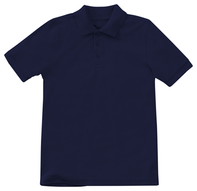 Classroom Child's Unisex Youth Unisex Short Sleeve Pique Polo Blue