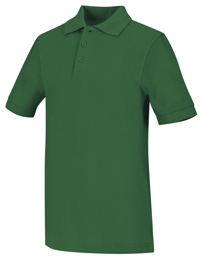 Classroom Unisex Adult Unisex Short Sleeve Pique Polo Green