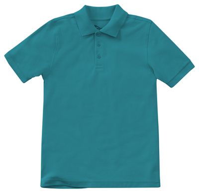 Classroom Unisex Adult Unisex Short Sleeve Pique Polo Blue