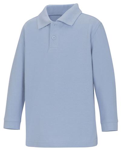 Classroom Uniforms Classroom Preschool Preschool Unisex LS Pique Polo Blue