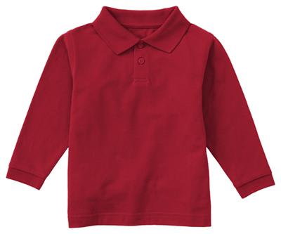 Classroom Uniforms Classroom Preschool Preschool Unisex LS Pique Polo Red