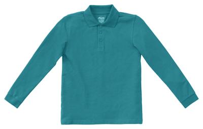 CLASSROOM Boys Uniform Long Sleeve Pique Polo