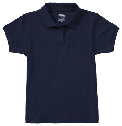 Classroom Junior\'s Junior SS Fitted Interlock Polo Blue