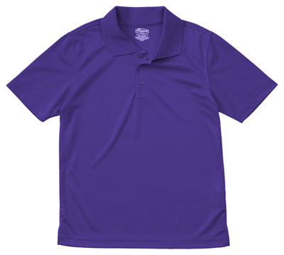 Classroom Child's Unisex Youth Unisex Moisture-Wicking Polo Shirt Purple
