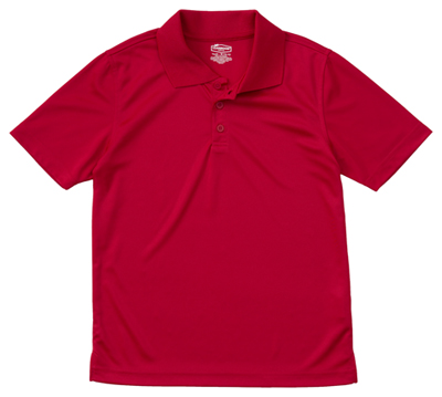 Classroom Unisex Adult Unisex Moisture-Wicking Polo Shirt Red