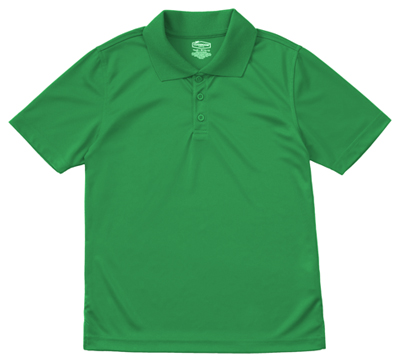 Classroom Unisex Adult Unisex Moisture-Wicking Polo Shirt Green