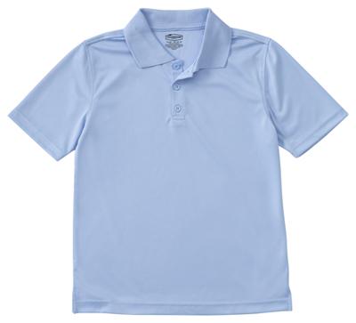 Classroom Unisex Adult Unisex Moisture-Wicking Polo Shirt Blue
