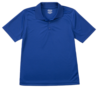 Classroom Unisex Adult Unisex Moisture-Wicking Polo Shirt Blue