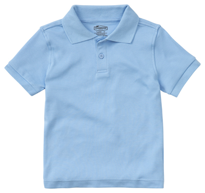 Classroom Preschool Preschool Unisex SS Interlock Polo Blue