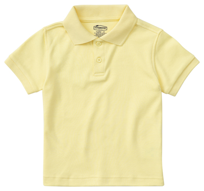 Classroom Preschool Preschool Unisex SS Interlock Polo Yellow