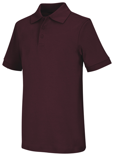 Classroom Child\'s Unisex Youth Unisex Short Sleeve Interlock Polo Purple