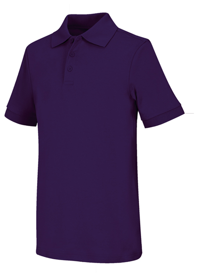 Classroom Unisex Adult Unisex Short Sleeve Interlock Polo Purple