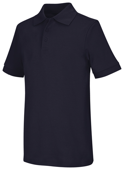 Classroom Unisex Adult Unisex Short Sleeve Interlock Polo Blue