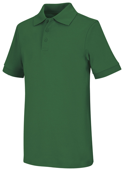 Classroom Unisex Adult Unisex Short Sleeve Interlock Polo Green