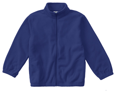 Classroom Child's Unisex Youth Unisex Polar Fleece Jacket Blue