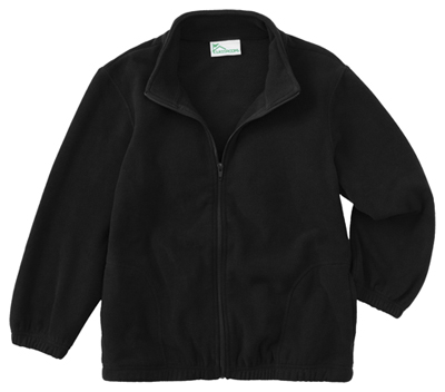 Classroom Unisex Adult Unisex Polar Fleece Jacket Black