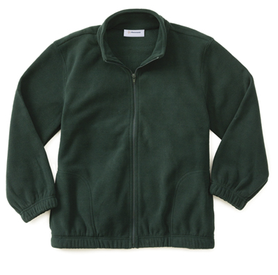 Classroom Unisex Adult Unisex Polar Fleece Jacket Green