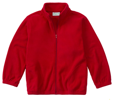 Classroom Unisex Adult Unisex Polar Fleece Jacket Red