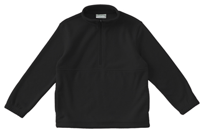 Classroom Child's Unisex Youth Unisex Polar Fleece Pullover Black