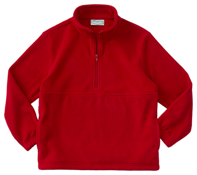 Classroom Unisex Adult Unisex Polar Fleece Pullover Red