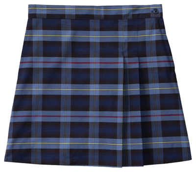 Classroom Girl Girls Plus Plaid Double Pleated Scooter Blue