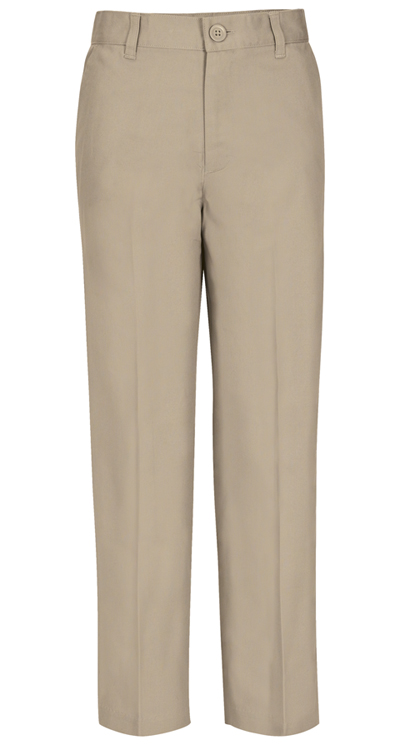 Real School Uniforms Boy's REAL SCHOOL Boys Husky Flat Front Pant Khaki