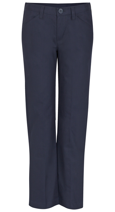 Real School Uniforms Girl's Girls Low Rise Adj. Waist Pant Navy