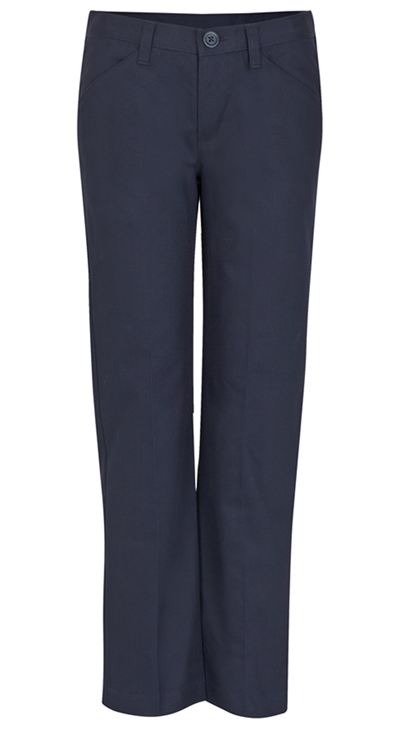 Real School Uniforms Girl's Girls Low Rise Pant Navy