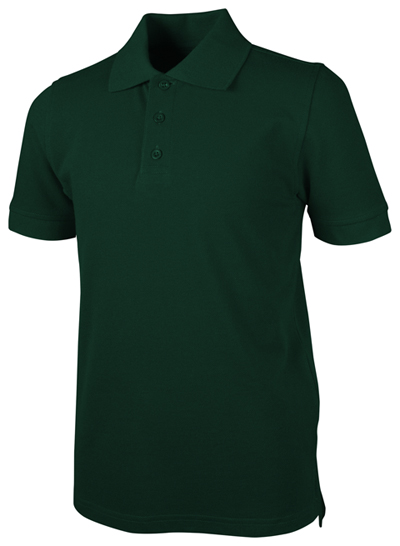 Real School Uniforms Child's Unisex Unisex Youth S/S Pique Polo Hunter