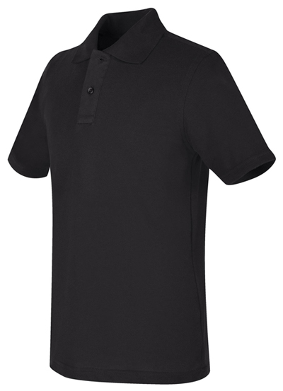 Real School Uniforms Child's Unisex REAL SCHOOL Youth Unisex S/S Pique Polo Black