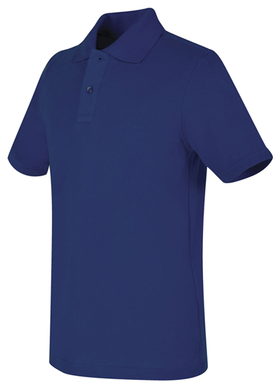 Real School Uniforms Child's Unisex REAL SCHOOL Youth Unisex S/S Pique Polo Blue