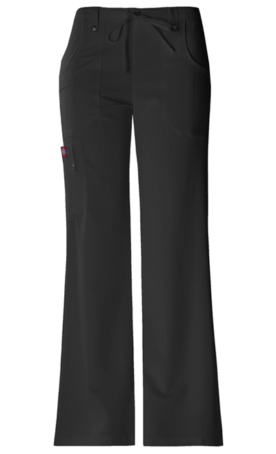 Dickies Xtreme Stretch Women\'s Mid Rise Drawstring Cargo Pant Black