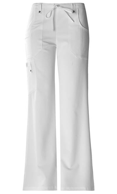 Xtreme Stretch Women's Mid Rise Drawstring Cargo Pant White