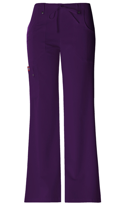 Dickies Xtreme Stretch Women\'s Mid Rise Drawstring Cargo Pant Purple