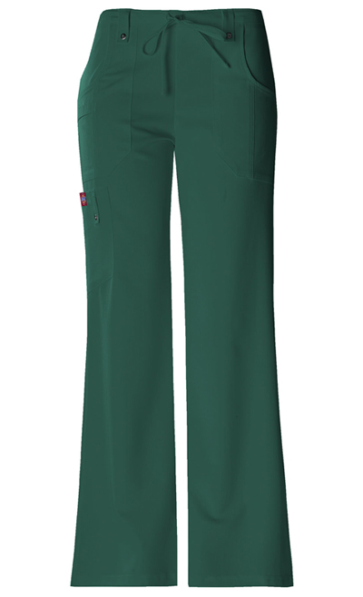 Dickies Xtreme Stretch Women\'s Mid Rise Drawstring Cargo Pant Green