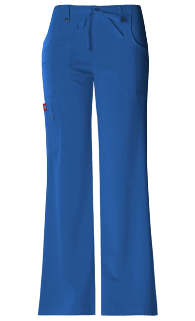 Dickies Xtreme Stretch Women\'s Mid Rise Drawstring Cargo Pant Blue