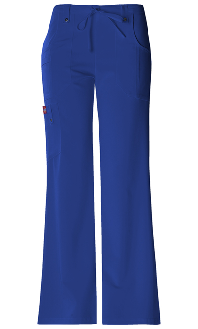 Dickies Xtreme Stretch Women's Mid Rise Drawstring Cargo Pant Blue