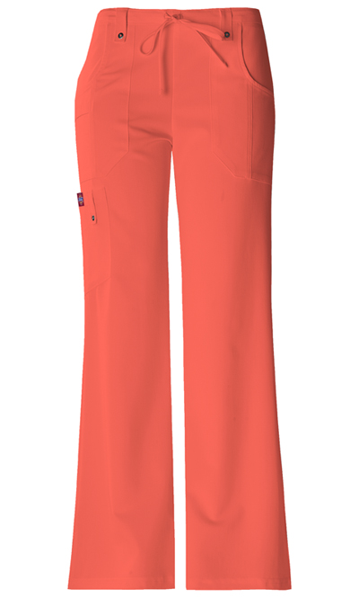 Dickies Xtreme Stretch Women's Mid Rise Drawstring Cargo Pant Orange