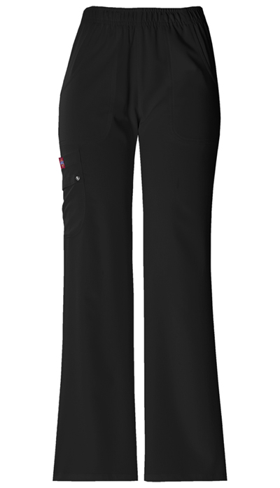 Dickies Xtreme Stretch Women\'s Mid Rise Pull-On Cargo Pant Black