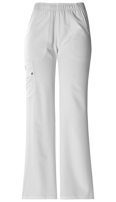 Dickies Xtreme Stretch Women's Mid Rise Pull-On Cargo Pant White