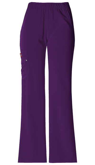 Dickies Xtreme Stretch Women's Mid Rise Pull-On Cargo Pant Purple