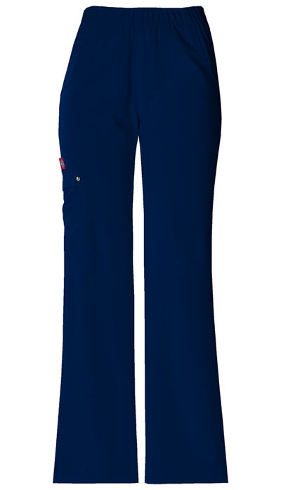 Dickies Xtreme Stretch Women\'s Mid Rise Pull-On Cargo Pant Blue