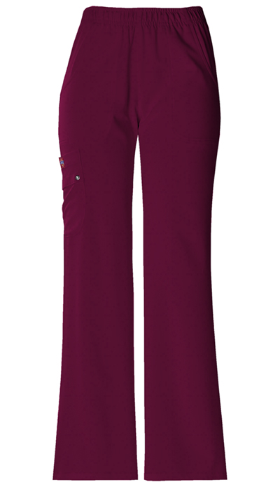 Dickies Xtreme Stretch Women's Mid Rise Pull-On Cargo Pant Red